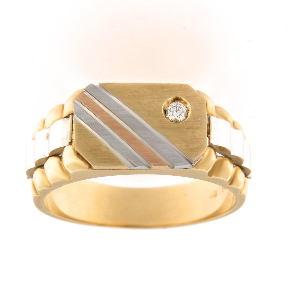 Kullast klotser teemantiga 0,05 ct. Kood: 295b eest
