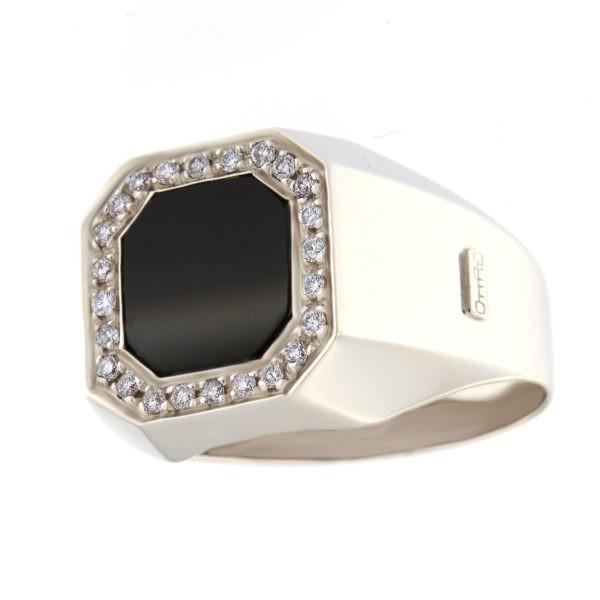 Kullast klotser oonüksi ja teemantitega 0,32 ct. Kood: B1038AU