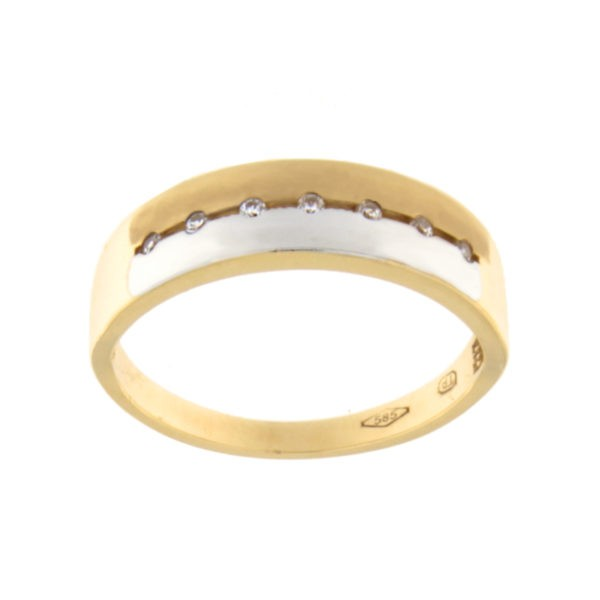 Kullast sõrmus tsirkoonidega Kood: 113pt