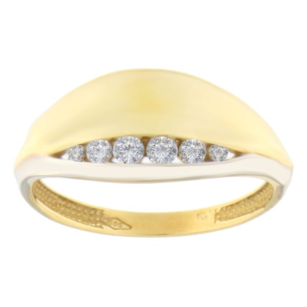 Kullast sõrmus tsirkoonidega Kood: 11pa