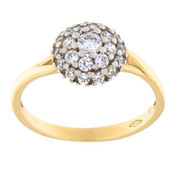 Kullast sõrmus tsirkoonidega Kood: 151pm, 152pm