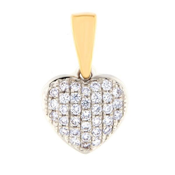 Kullast ripats teemantidega 0,14 ct. Kood: 35at