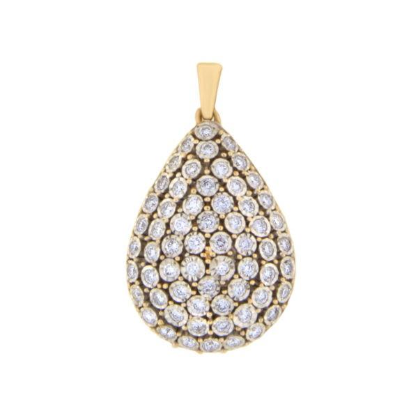 Kullast ripats teemantidega 0,46 ct. Kood: 63an