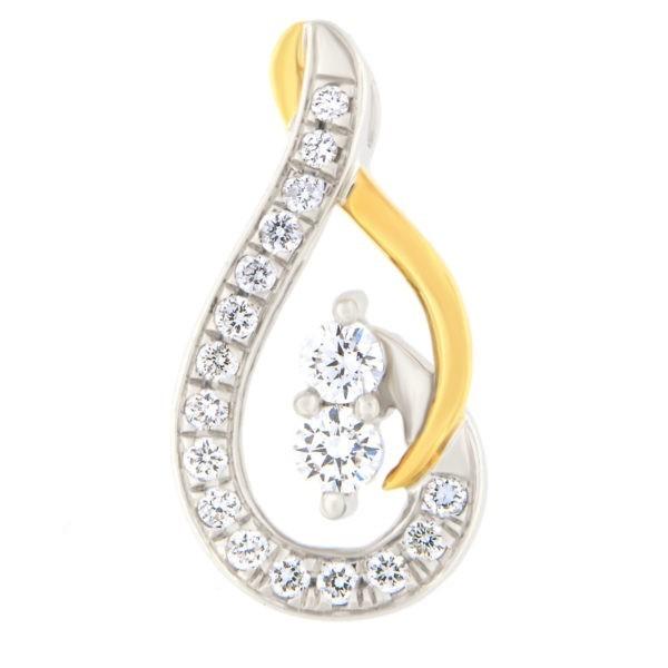 Kullast ripats teemantidega 0,38 ct. Kood: 63ha-1