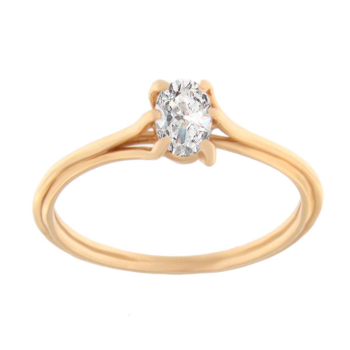 Kullast sõrmus tsirkooniga Kood: 03025035j