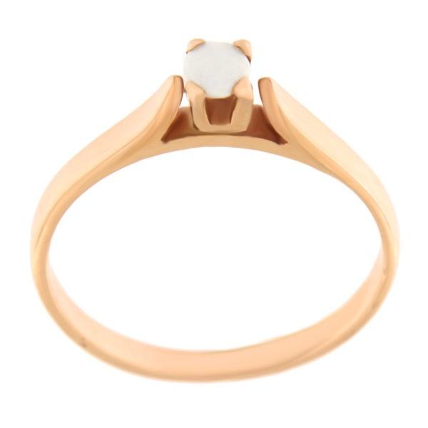 Kullast sõrmus opaaliga Kood: 48pk