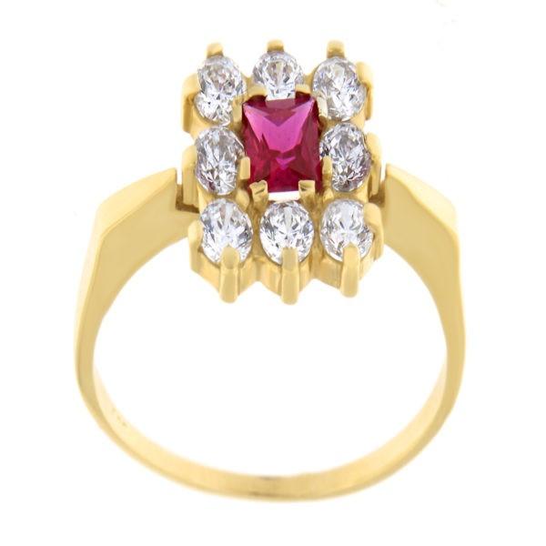 Kullast sõrmus tsirkoonidega Kood: 646wp398