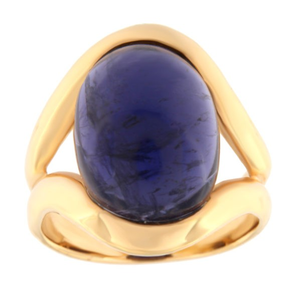 Kullast sõrmus ioliidiga Kood: 201181
