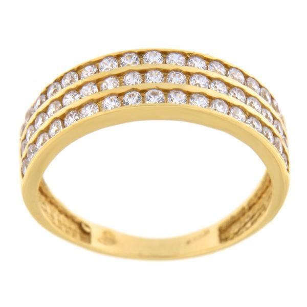 Kullast sõrmus tsirkoonidega Kood: 203035