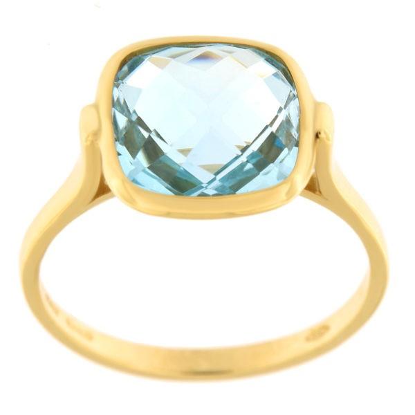 Kullast sõrmus topaasiga Kood: 205618