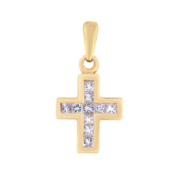 Kullast ripats teemantidega 0,31 ct. Kood: 193sc