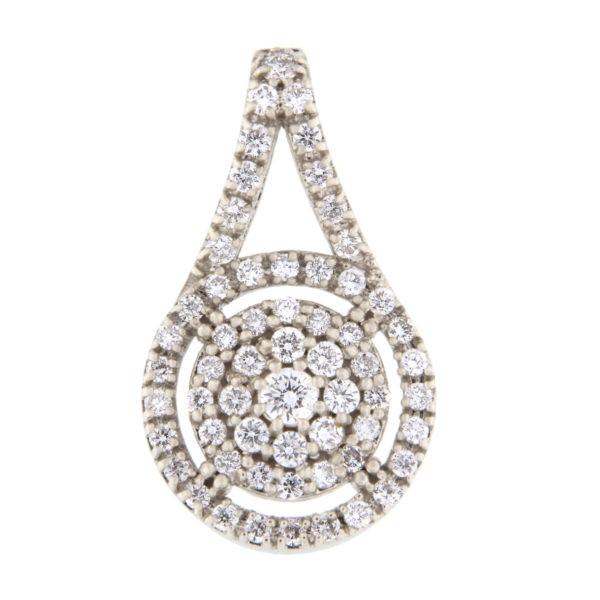 Kullast ripats teemantidega 0,38 ct. Kood: 22ab