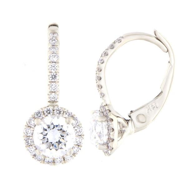 Kullast kõrvarõngad teemantidega 0,94 ct. Kood: 27at