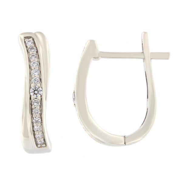 Kullast kõrvarõngad teemantidega 0,15 ct. Kood: 28af