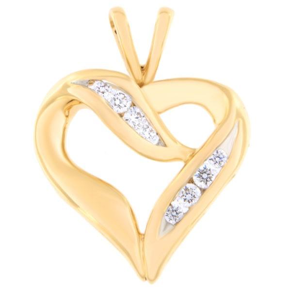Kullast ripats teemantidega 0,13 ct. Kood: 34at