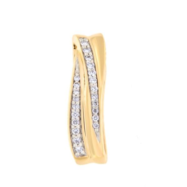 Kullast ripats teemantidega 0,09 ct. Kood: 40at