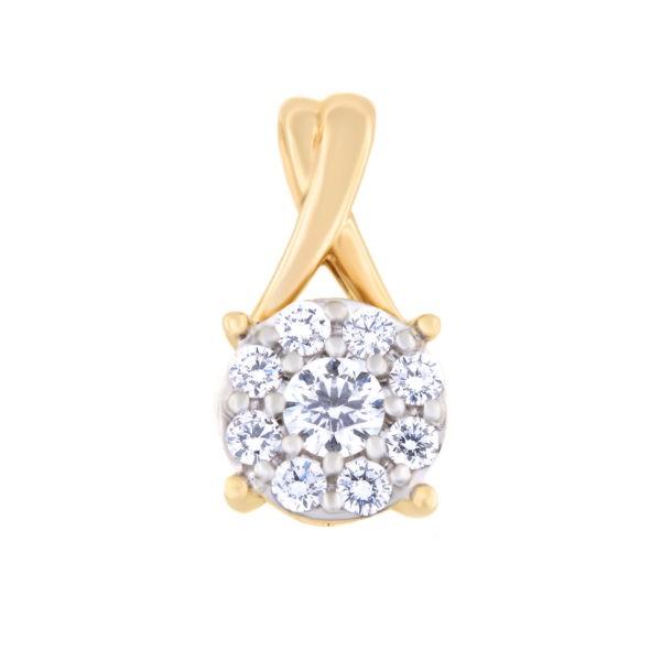 Kullast ripats teemantidega 0,41 ct. Kood: 59al