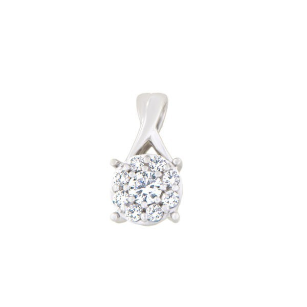 Kullast ripats teemantidega 0,42 ct. Kood: 60al