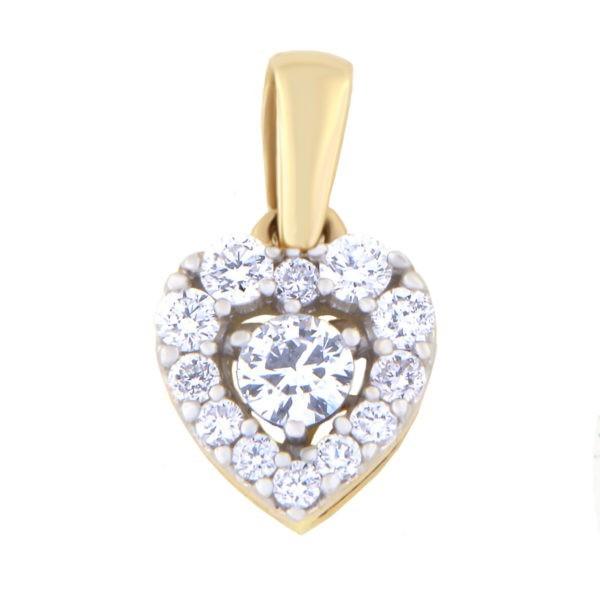 Kullast ripats teemantidega 0,25 ct. Kood: 74ha