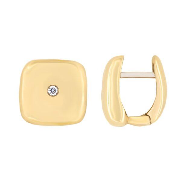 Kullast kõrvarõngad tsirkoonidega Kood: 15unc