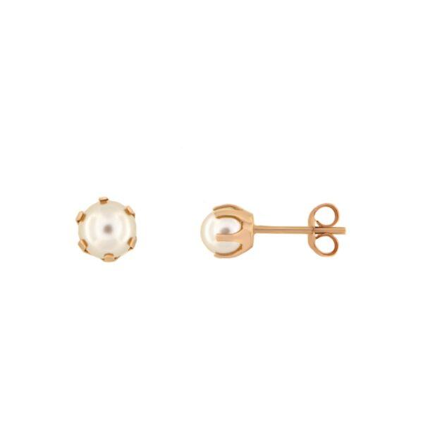 Kullast kõrvarõngad pärlitega Kood: 24ct