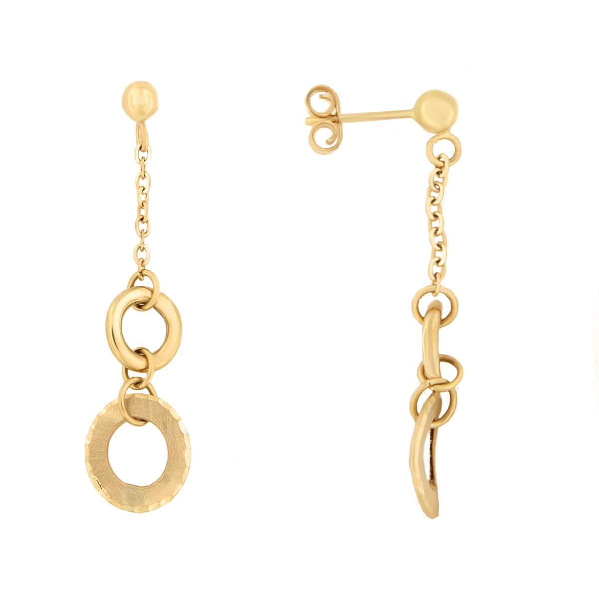 Kullast kõrvarõngad pärlitega Kood: 24tl