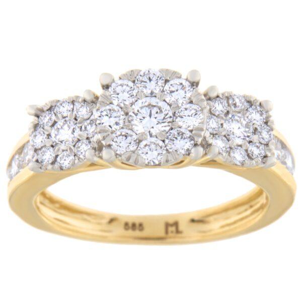 Kullast sõrmus teemantiga 1,11ct. Kood: 82he