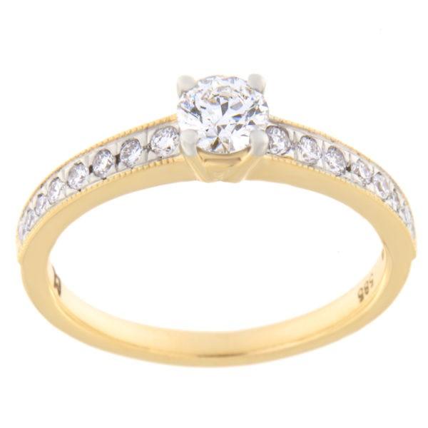 Kullast sõrmus teemantiga 0,50ct. Kood: 21hc,83he