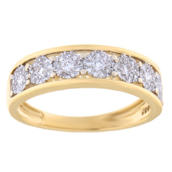 Kullast sõrmus teemantidega 0,30 ct. Kood: 24hc,86hb