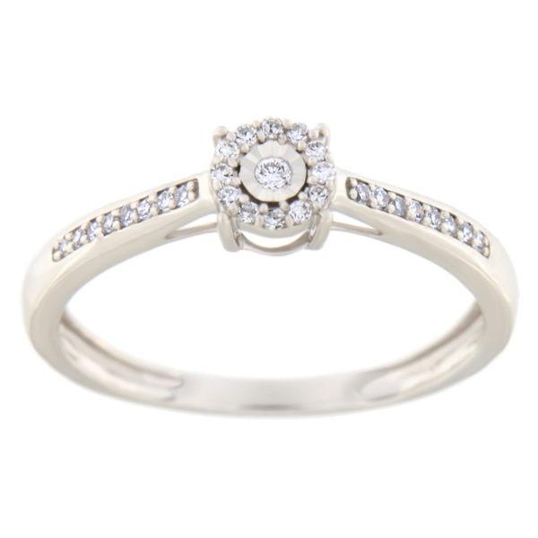 Kullast sõrmus teemantiga 0,10 ct. Kood: 27hc,88he