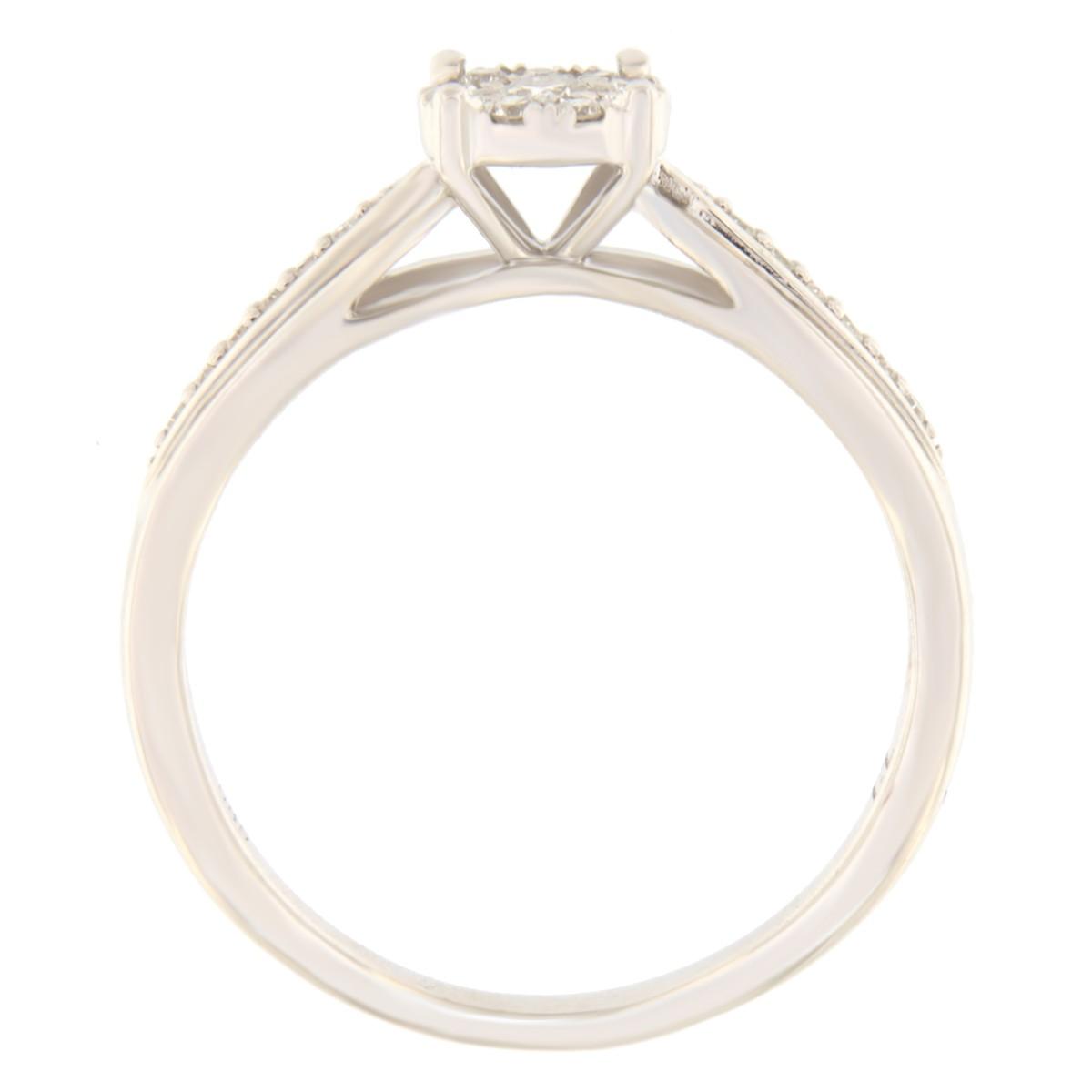 Kullast sõrmus teemantiga 0,15 ct. Kood: 95he
