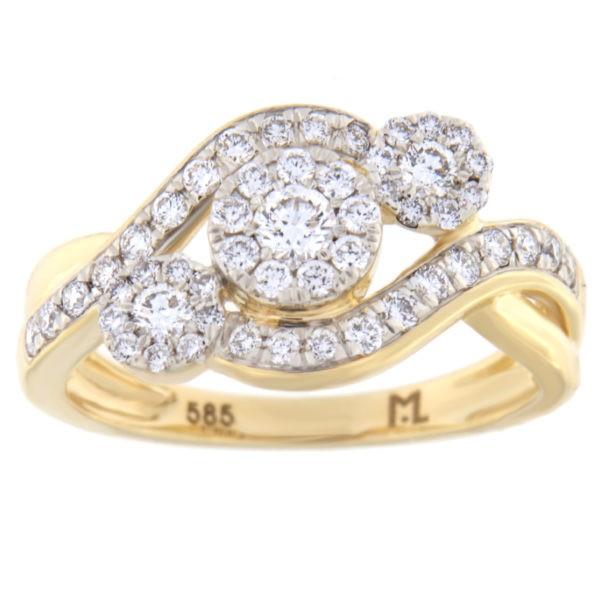 Kullast sõrmus teemantiga 0,55 ct. Kood: 37hc,99he