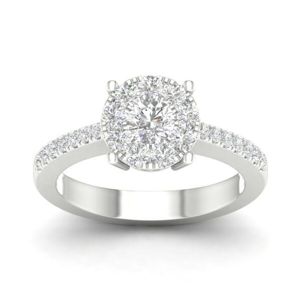Kullast sõrmus teemantiga 0,80 ct. Kood: 45hc