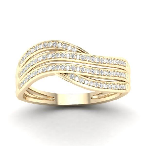 Kullast sõrmus teemantiga 0,10 ct. Kood: 42hc