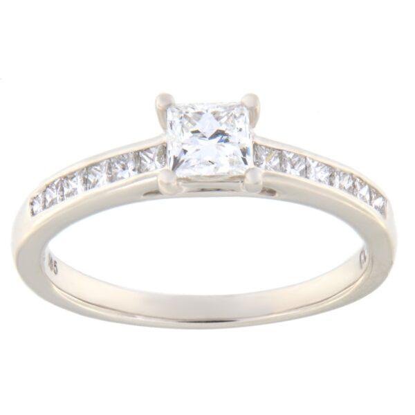 Kullast sõrmus teemantiga 0,75 ct. Kood: 109he