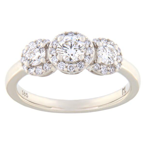 Kullast sõrmus teemantiga 0,75 ct. Kood: 110he