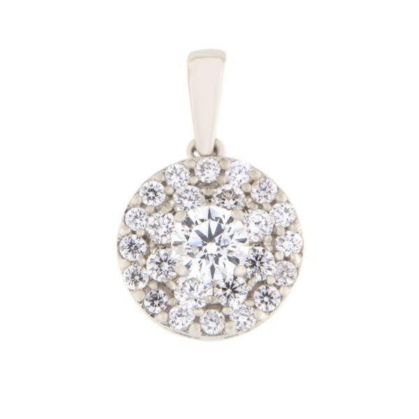 Kullast ripats teemantidega 0,50 ct. Kood: 40he