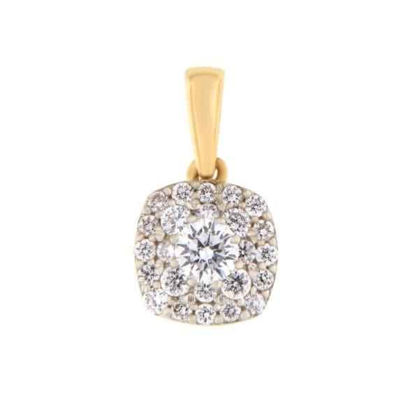 Kullast ripats teemantidega 0,25 ct. Kood: 41he