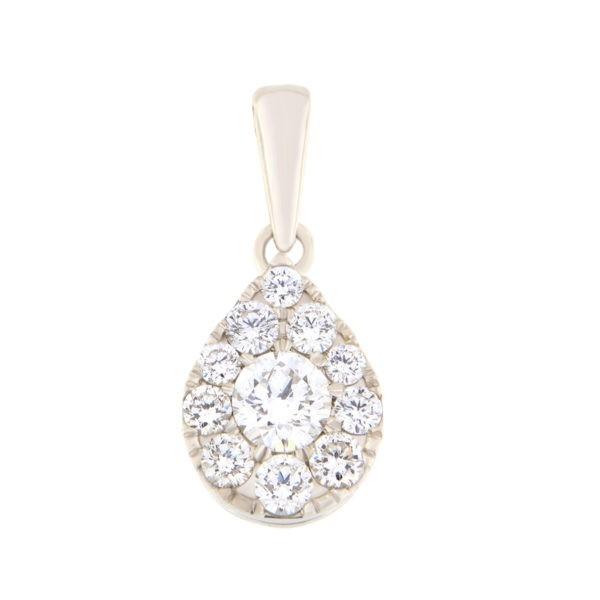 Kullast ripats teemantidega 1,00 ct. Kood: 43he