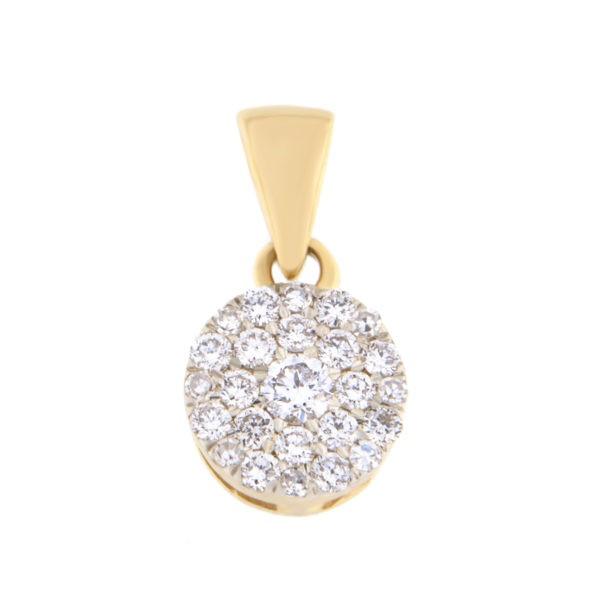 Kullast ripats teemantidega 0,15 ct. Kood: 44he