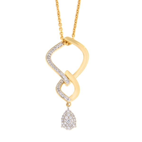 Kullast ripats teemantidega 0,25 ct. Kood: 48he
