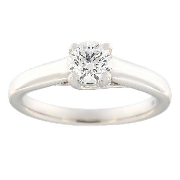 Kullast sõrmus teemantiga 0,70 ct. Kood: 77ae