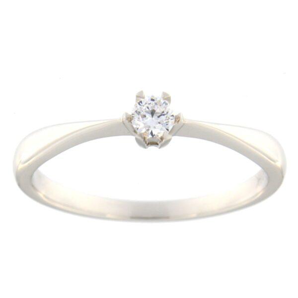 Kullast sõrmus teemantiga 0,10 ct. Kood: 7hb