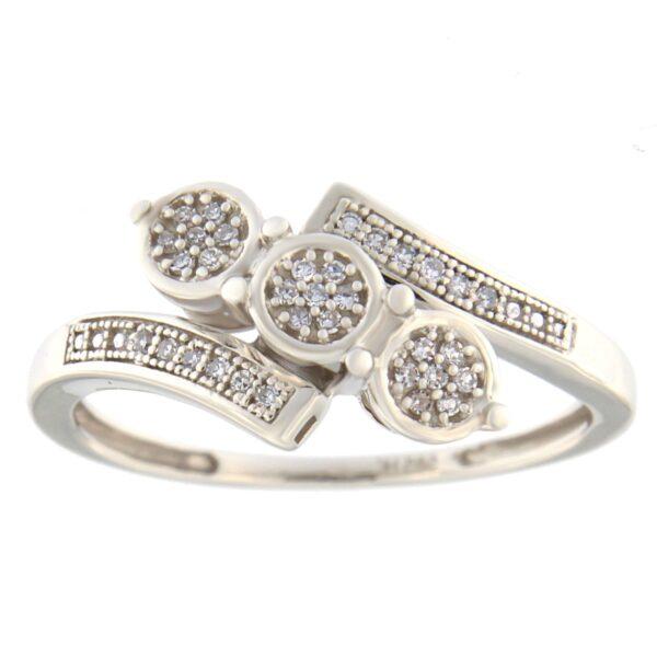 Kullast sõrmus teemantiga 0,10 ct. Kood: 80hb