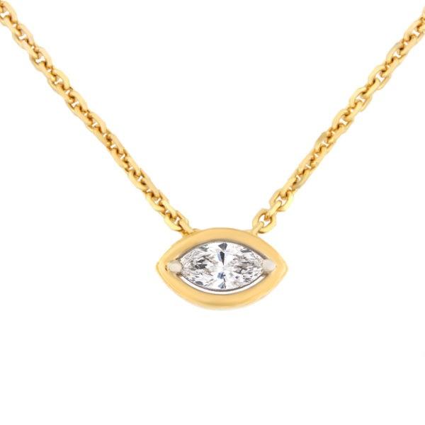 Kullast ripats teemantidega 0,20 ct. Kood: 8he