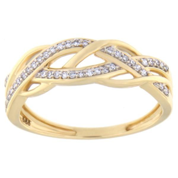 Kullast sõrmus teemantiga 0,10 ct. Kood: 90he