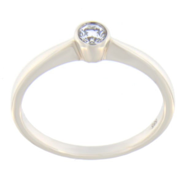 Kullast sõrmus teemantiga 0,10 ct. Kood: 92an