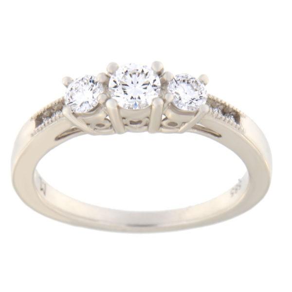 Kullast sõrmus teemantiga 0,50 ct. Kood: 33hc,92he