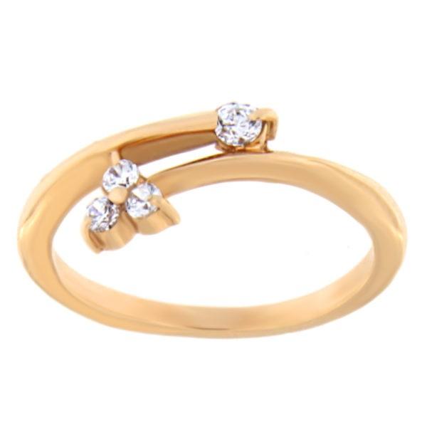 Kullast sõrmus tsirkooniga Kood: 03020372j