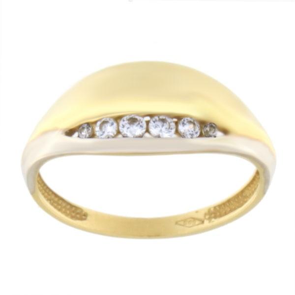 Kullast sõrmus tsirkooniga Kood: 104pt